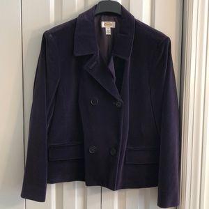 Fabulous Talbots size 18 vintage purple pea jacket